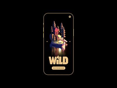 WiLD Forest/Fire Cabin Process - Mobile Concept website header app ui mobiel design motion graphics animation flame fire cabin outdoors ux ui website mobile logo brand identity brand