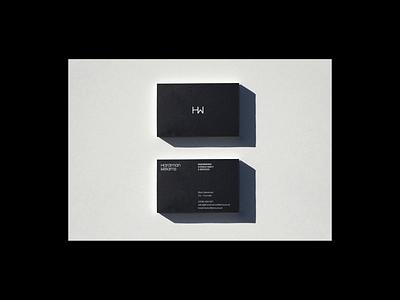 HardmanWilliams - Business Card Design business card mockup simple minimal technology tech monogram engineering business card branding design logo brand identity typography brand