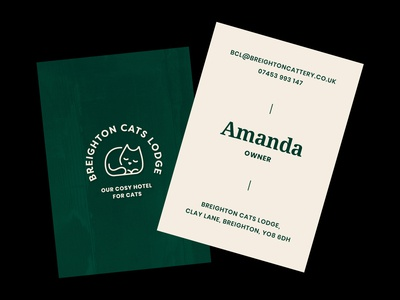 Cat Lodge Business Cards