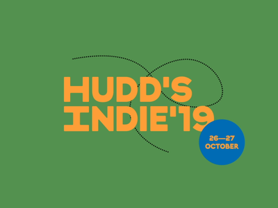 Hudd Indie, music, food and drink festival logo animation