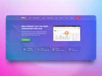 Landing Page Header Blue Edition