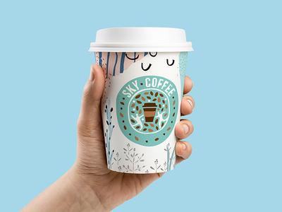 Sky Coffee Logo 2017 coffee marks look brand logo