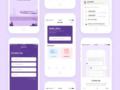 EnvysTrip. Mobile App product design design trip travel application ui mobile