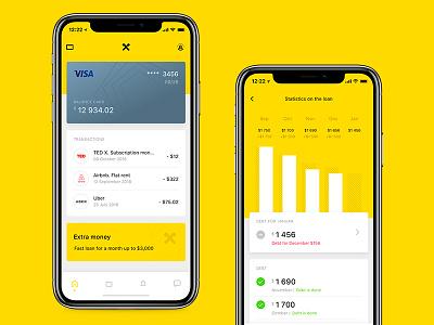 Raiffeisen Bank (concept) finance ui design sketch mobile bank app