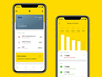 Raiffeisen Bank (concept) finance ui design sketch mobile bank app