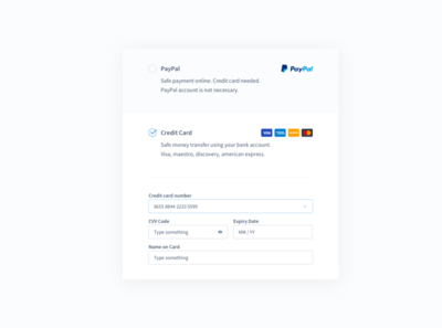 Payments Form minimal form payments ui design