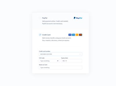 Payments Form minimal form payments ui design