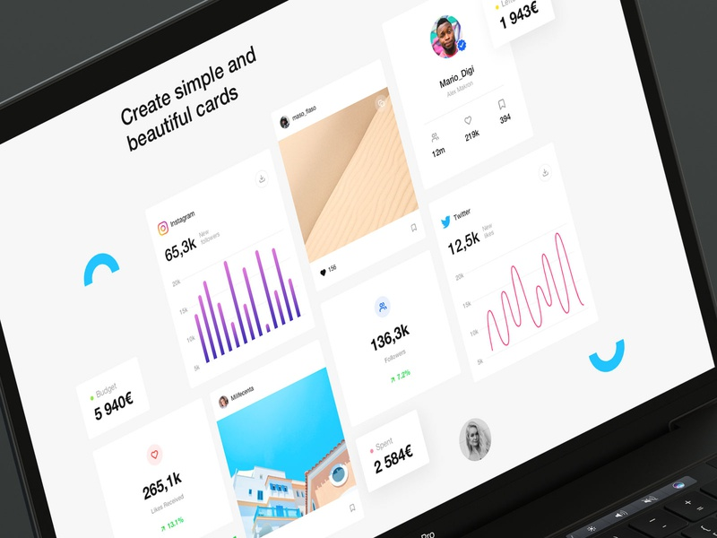 Design Social cards uiux social app application ui design