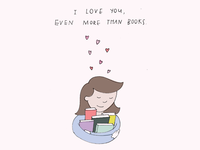 Actual Holidays Greeting Card - Book Lovers Day