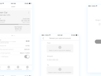 High - Level Wireframes for CAVU Mobile banking app