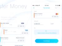 Transfer Money in  Infin8  FinTech Mobile App