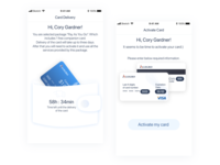 Card delivery & activate card