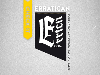 Erratican - Introduction clothing company independent art design fashion label corporate design branding screendesign