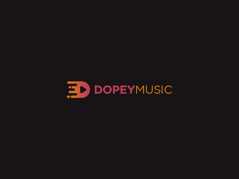Dopey Music Logo Design gradient flat design clean dopey music logo