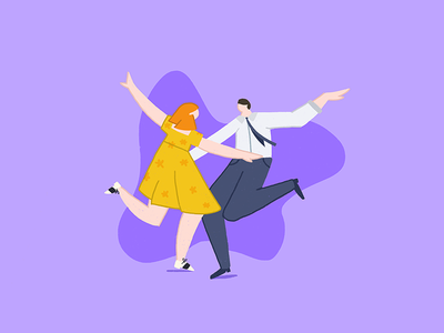 What a waste of a lovely night dancing musical movie lala land geometric doodle photoshop character illustrator vector illustration