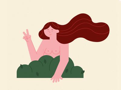 Free Spirit free spirit hippie free the nipple geometric woman texture design character illustrator vector illustration