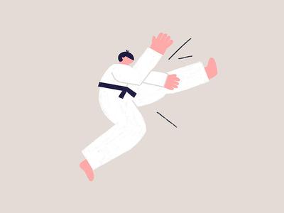 Chop! chop doodle athlete karate character procreate texture design illustrator illustration
