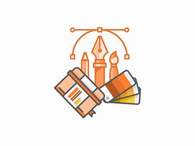 Creative Services swatch pantone sketchbook vector creative services