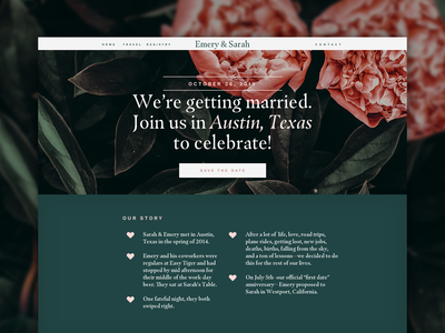 Working on our wedding site
