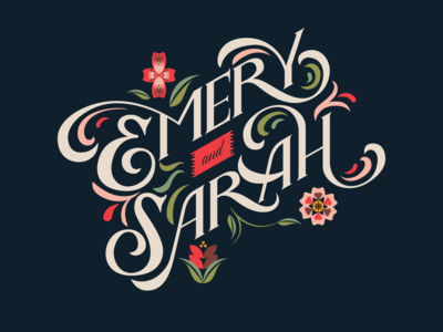 Our Wedding Typography