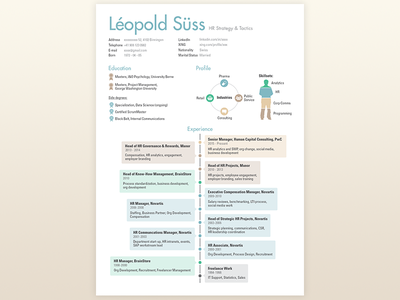 Infographic CV 1 futura page diagram chart pastel cv layout timeline icons icon infographic