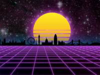 Virtual London - First attempt at Vaporwave / Synthwave Art