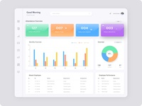 Human Resource Management Dashboard Concept