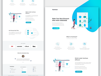 Products Discount landing page web page design gradients illustration ux design products discounts