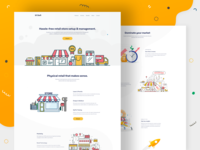 Retail Store Management Landing Page