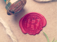 Letter R Wax Seal
