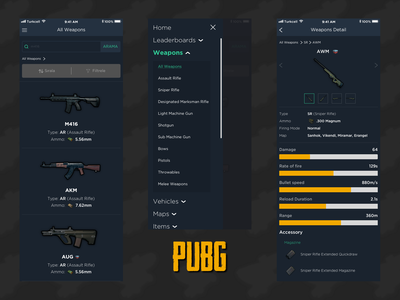 Pubg product detail page menu listing products mobile app mobile design pubg game design gaming app gaming ux uxdesign ui uıdesign