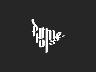 Minimalistic geometry calligraphic logo