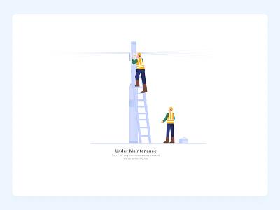 Under Maintenance empty state emptystate maintenance website illustration error 404 error page eror