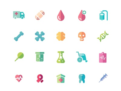 medical icons kids doctor ui health skull medical icons