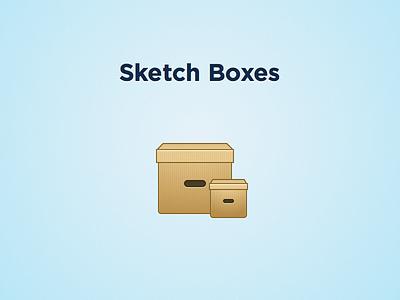 Sketch boxes sketch cartboard box icon retina freebie