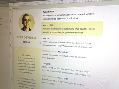 Redesign Teaser html5 css3 personal resume