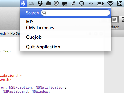 Menu bar app code xcode obj objc objective-c menu bar app application