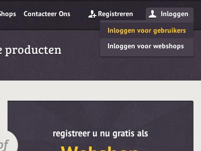 Dropdown html5 dropdown hover icons login register header