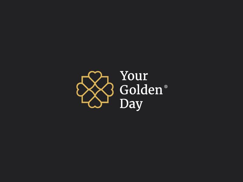 Your Golden Day—Brand Identity icon typography photographer geometric brand identity gold symbol photography wedding serif logo