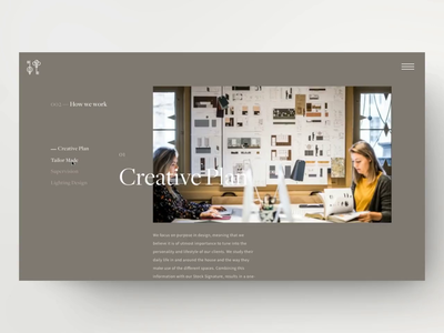 Stock Dutch Design—Sticky Side-nav digitaldesign dutch design agency creative floorplan architecture interior design interior parallax sticky navigation colourful serif agency minimal interface webdesign ui website