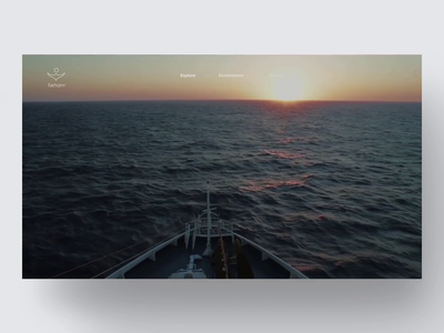 Fathom—Website transport nature interface ui video minimal holiday hotel resort tourist webdesign website boat cruise tourism fullscreen video sea ship fathom travel
