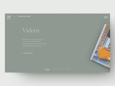 Stock Dutch Design—Media Slider architecture interior dutch serif editorial portfolio interior design transition book pastel background colour slider ipad magazine agency minimal interface webdesign ui website