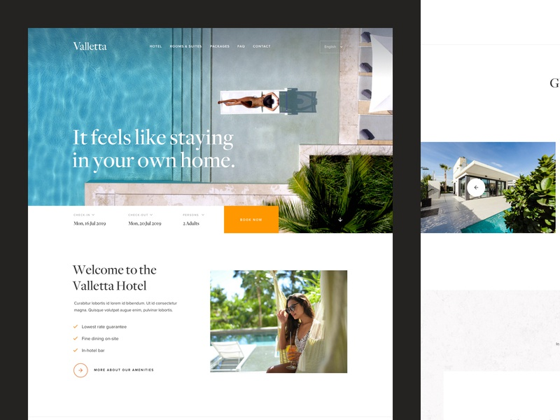 Valletta–Premium Hotel Template premium booking villa holiday spa tourism restaurant valletta high-end resort hotel template luxurious luxury serif minimal interface webdesign ui website