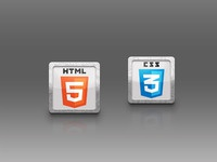 html5 and css3 icons