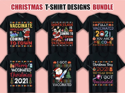 Christmas T Shirt Design Bundle clothingbrand tshirtdesign tshirt vector typography branding design illustration