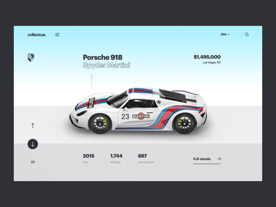 Car Website Animation ecommerce product web design website porsche 3d car automative interface app interaction ui clean interactive ux ui animation