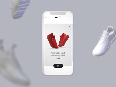 #26 Shoes Ordering checkout shipping box track payment shoe shipping delivery 3d after effects mobile interface app ui interaction clean interactive ux ui animation