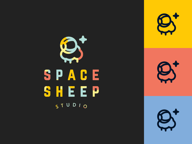 Space Sheep Studio Logo logo logo design