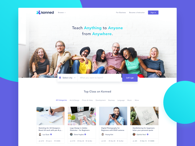 Konned – Landing Page ux ui saigon vietnam vietnam designer website education interactive landing page konned