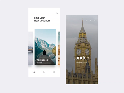 #8 Travel Guides Experience - Freebie ux ui vietnam vietnam designer design ui experience interaction photo white clean minimal sketch aftereffects animation app design application destination guide trips travel